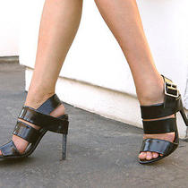 Jeffrey Campbell Trina Sandals Size 6 New in Box Black Photo