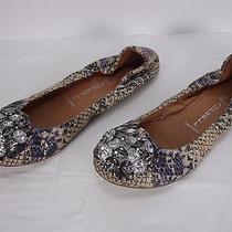 Jeffrey Campbell Turtle Snake Print Jewels Ballet Flats Shoes Women's 6.5 Photo