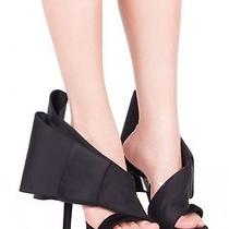 Jeffrey Campbell Tuxedo Bow Heels Size 5.5 New in Box Black Suede Photo