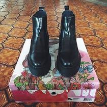 Jeffrey Campbell Universal Black Box Boots Size 7 Photo