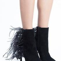 Jeffrey Campbell Vain Feather Bootie Boots Size 5 New in Box  Photo