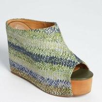 Jeffrey Campbell Virgo Green Combo Wedge Platform Heel Photo