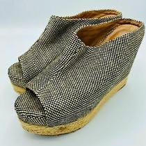 Jeffrey Campbell Virgo Par Espadrille Open Toe Platform Wedge Shoes Size 9.5m Photo