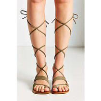 Jeffrey Campbell 'Vista' Gladiator Sandal in Khaki Size 7 Us Photo