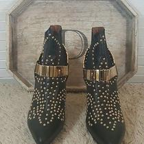 Jeffrey Campbell Volpe Ankle Boot Gold/black Size 8 320 Photo
