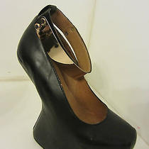 Jeffrey Campbell Watch Cuff  Platform Pumps/ Booties Leather Sz 6.5 Photo