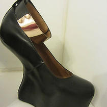 Jeffrey Campbell Watch Cuff  Platform Pumps/ Booties Leather Sz 6 Photo