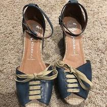 Jeffrey Campbell Wedge Heels Espadrilles Shoes Wedges Ankle Strap Womens 8.5 Photo