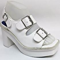 Jeffrey Campbell White Botta Platform Sandal Size 7.5m Photo