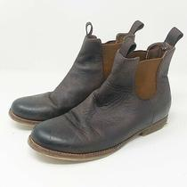Jeffrey Campbell Women's 7 Leather Chelsea Booties Ankle Boots Brown Msrp 299 Photo