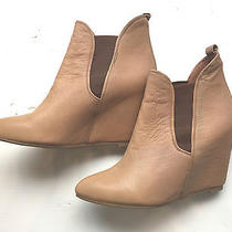 Jeffrey Campbell Women's Ankle Boot Wedge- Nude Leather Size 9 Worn Once Photo