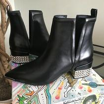Jeffrey Campbell Womens Black Leather Ankle Boot W/studded Heel Eu38 Msrp 229 Photo