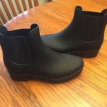Jeffrey Campbell Women's Cloudy Black Matte Rain Boots Size 8m Nwb Photo