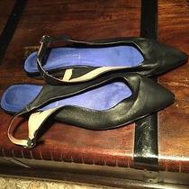 Jeffrey Campbell Women's Daft Leather Slingback Flats Retail 110 Size 9 Euc Photo