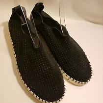 Jeffrey Campbell Womens Flats Loafers Black Leather White Soles Size 8.5 Photo