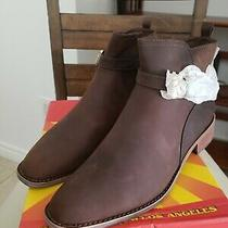 Jeffrey Campbell Women's New Sammy - Sz 10 Distressed Brown Ankle Boots Booties Photo