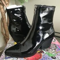 Jeffrey Campbell Womens Patent Black Leather Ankle Boot Eu38  Photo
