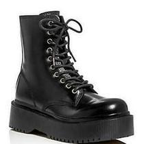 Jeffrey Campbell Women's Platform Combat Boots 7m Black New Photo