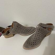Jeffrey Campbell Women's Rebus Taupe Gray Leather Shooties Booties Size 10 Photo