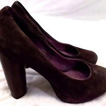 Jeffrey Campbell Women's Shoes 6.5 M Brown Suede Leather Heels Slip Ons Photo