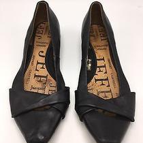 Jeffrey Campbell Women's Size 9.5 Black Leather Ballet Flats Shoes Photo