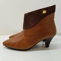 Jeffrey Campbell Women's Size Eur 36 Brown Leather Cuffed Ankle Boots (F014) Photo