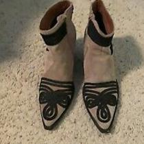 Jeffrey Campbell Women's Suede Embroidered Booties Size 8 Photo