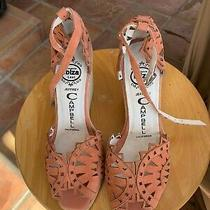 Jeffrey Campbell Womens Sz 8 Sandal Coral Suede Nib Photo