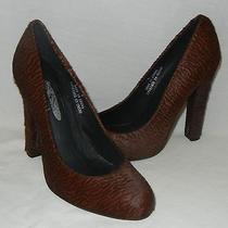Jeffrey Campbell Women's Valencia Brown Leather Pumps Heels Retail 148 Size 6.5 Photo