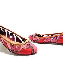 Jeffrey Campbell Women's Wavy Flats Coral Combo Size 7 New Photo