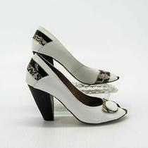 Jeffrey Campbell Women Shoe Amina Size 7.5m Peep Toe Heel Pump Pre Owned Jq Photo