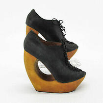 Jeffrey Campbell Women Shoe Rockin Size 6m Black Bootie Heel Pump Pre Owned Yq Photo