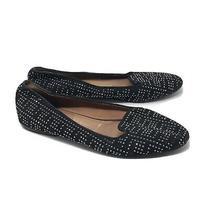 Jeffrey Campbell Women Size 8 Trillion Studded Smoking Flats Black Silver Loafer Photo