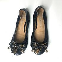 Jeffrey Campbell Women Sz 7 Lock Ballet Flat Shoe Black Gold Slipper Photo