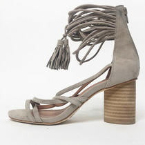 Jeffrey Campbell Womens 7.5 Taupe Despina Sandal Strappy Heel Zip Closure Photo