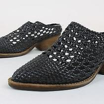 Jeffrey Campbell Womens Armadillo Woven Mules Shoes Black 8 New Photo