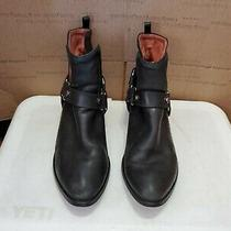 Jeffrey Campbell Womens Black Leather Ankle Boots Size 9 M Photo