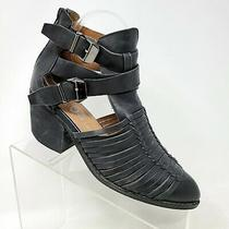 Jeffrey Campbell Womens Boots Stillwell Black Strappy Ankle Rustic Shoes Sz 8 M Photo