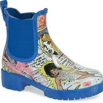 Jeffrey Campbell Womens Cloudy Chelsea Rain Boot Waterproof Fashion Comic Shoe 7 Photo