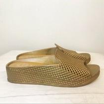 Jeffrey Campbell Womens Fling-2 Slide Gold Sandal Women's Size 8 Photo