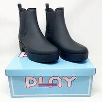 Jeffrey Campbell Womens Hydra Chelsea Boot Size 10m Black Matte Waterproof Nib Photo