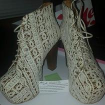 Jeffrey Campbell Womens Lace Ankle Booties 9 Photo