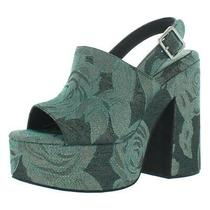 Jeffrey Campbell Womens Mattix Jacquard Slingback Platform Heels Shoes Bhfo 4208 Photo