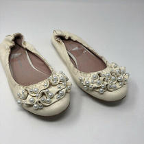 Jeffrey Campbell Womens Pearl Ballet Flats Shoes Beige Cream Leather Bridal 7.5 Photo