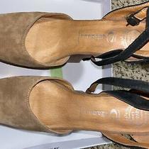 Jeffrey Campbell Womens Platform Black/brown Suede Heels Size 7.5 Photo