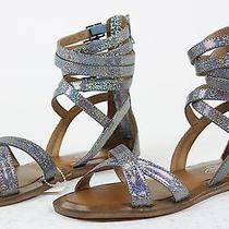 Jeffrey Campbell Womens Romana Ankle Strap Sandal Shoes Silver 7 New Photo