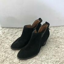 Jeffrey Campbell Womens Shoes Black Suede Ankle Boots Booties Fringe Size 7 Photo