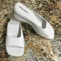 Jeffrey Campbell Womens Size 10 White Wedge Sandal/slides Nwob Photo