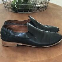 Jeffrey Campbell Womens Size 8.5 Black Leather Flats Slip on Loafer Shoes Photo