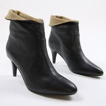 Jeffrey Campbell Womens Sonika Cuff Ankle Booties Shoes Black Beige 8.5 Nwb Photo